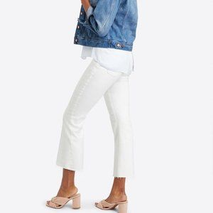 Spanx Cropped Flare Jeans White Size Medium